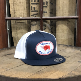 Lazy J Ranch Wear Navy and White Cap