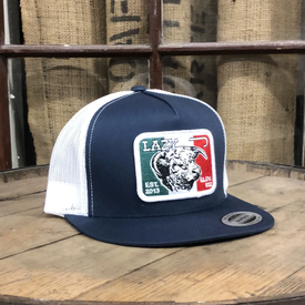Lazy J Ranch Wear Navy and White Mexico Patch Cap