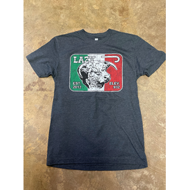 Lazy J Ranch Wear Charcoal Shirt with Mexico Flag Logo