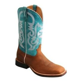 Twisted X Men's Gingerbread and Turquoise Hooey Boots