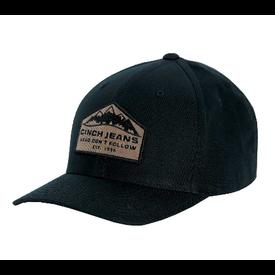 Cinch Men's Black Flexfit Cap w Tan Logo
