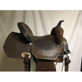 High Horse Used Chocolate RO Barrel Saddle