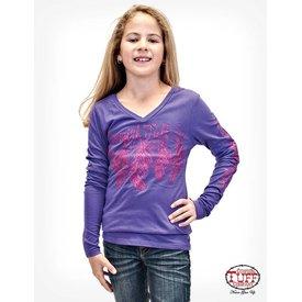 Cowgirl Tuff Girl's Cowgirl Tuff T-Shirt S00592 C3