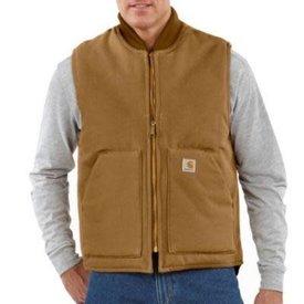 Carhartt Men's Arctic-Quilt Lined Duck Vest TALL