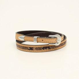 3D Belt Co Snake Print Hatband