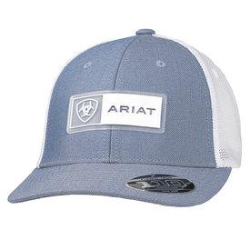Ariat Men's Light Blue Cap with Rubber Logo Patch