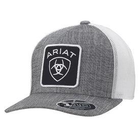 Ariat Men's Grey Cap with Large Logo Patch