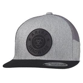 Ariat Men's Heather Grey Cap with Round Logo Patch