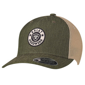 Ariat Men's Green Cap with Circle Logo Patch