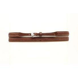 M&F Western Brown Laced Hatband