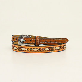 M&F Western Ivory Laced Brown Hatband