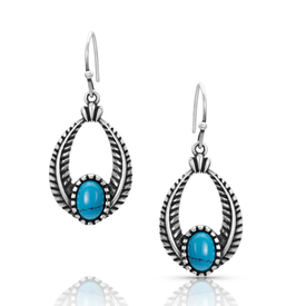 Montana Silversmiths Regal Winds Turquoise Earrings