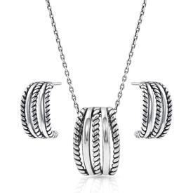 Montana Silversmiths Roped Trio Jewelry Set