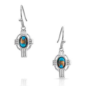 Montana Silversmiths Easter Cross Turquoise Earrings