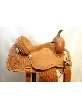 Courts COURTS 7/8 TOOLED BARREL SADDLE 14""