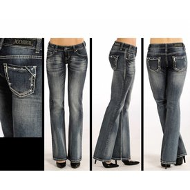 Rock and Roll Cowgirl Women's Rock & Roll Cowgirl Low Rise Boot Cut Jean W0-4483