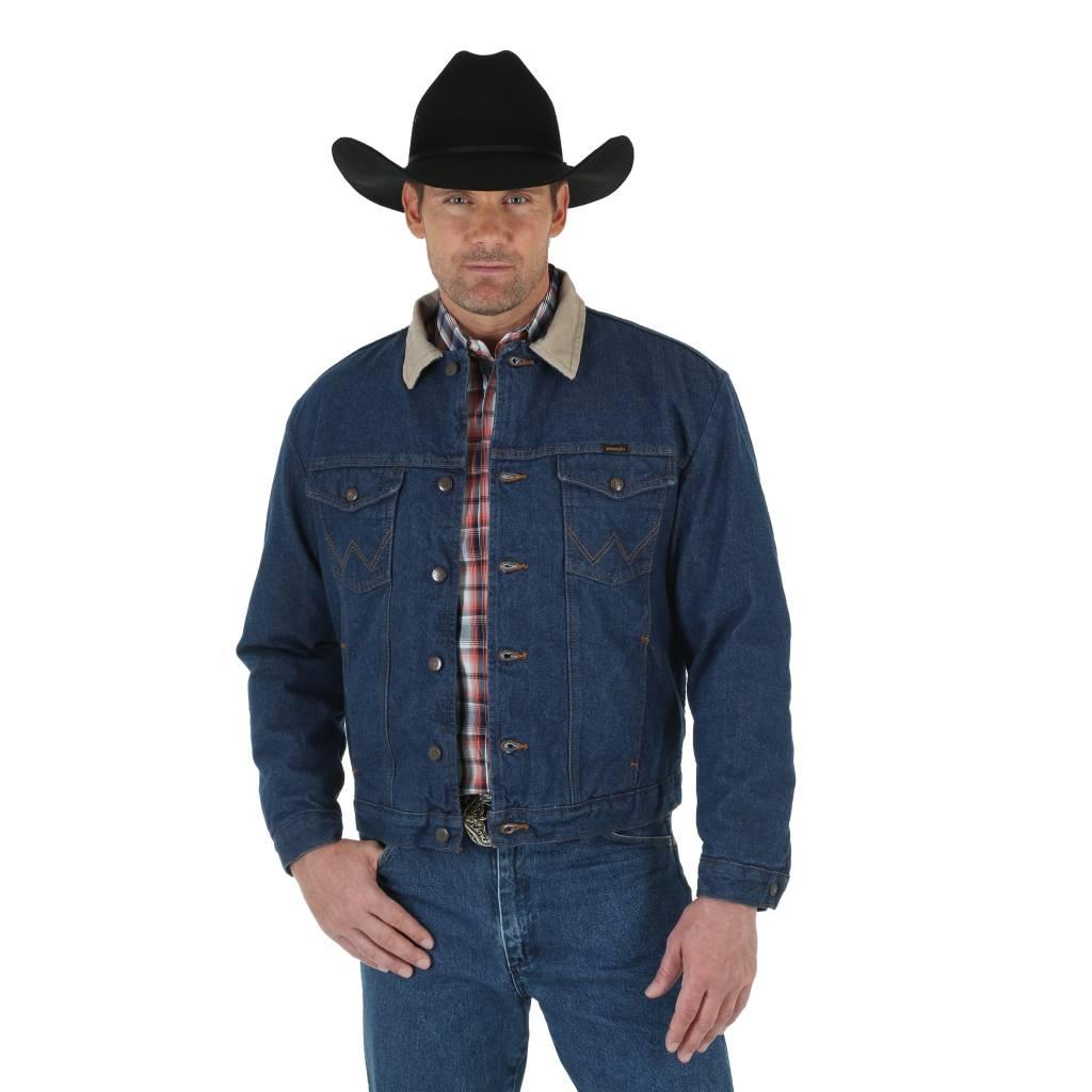 Wrangler Men S Wrangler Blanket Lined Denim Jacket 74260pw