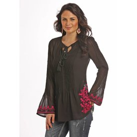 Rock and Roll Cowgirl Women's Rock & Roll Cowgirl Blouse B4-9110 C3