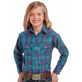Rock and Roll Cowgirl Girl's Panhandle Snap Front Shirt C6S9317