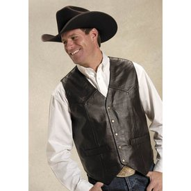 Roper Men's Roper Lamb Leather Vest 02-075-0520-0501BR