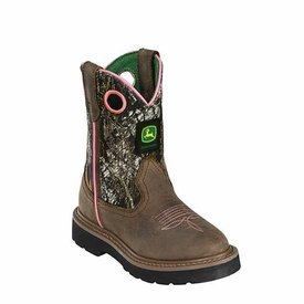 John Deere Children's Pink Lined Camo Johnny Popper Boot C5