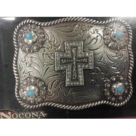Nocona Belt Co. Silver Cross Western Buckle