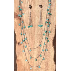 West & Co. West & Co. Necklace Set N1028TQBS