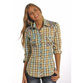 Rock and Roll Cowgirl Women's Rock & Roll Cowgirl Snap Front Shirt B4S3779 C4