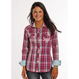 Rock and Roll Cowgirl Women's Rock & Roll Cowgirl Snap Front Shirt B4S8371 C4