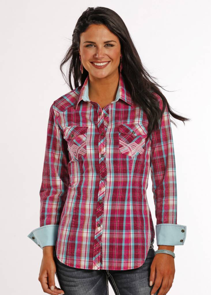 e099e8b7 Rock and Roll Cowgirl Women's Rock & Roll Cowgirl Snap Front Shirt B4S8371