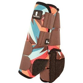 Classic Equine CHOCOLATE TEAL TWIST LEGACY SYSTEM HIND SPLINT BOOTS