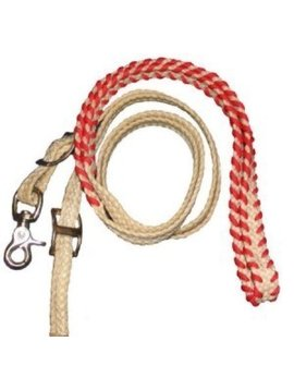 """Supreme Rodeo Products Supreme- 3/4"""" B' Wax Roping Rein Laced Hand 57-8A"""