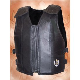 Ride Right Black Leather Protective Vest