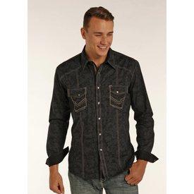 ROCK&ROLL COWBOY Men's Rock & Roll Cowboy Long Sleeve Shirt B2S2066