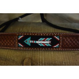 Rafter T Beaded Arrow Inlay Rope Halter RH73