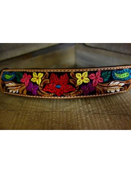 Rafter T Colorful Floral Tooled Rope Halter RH64