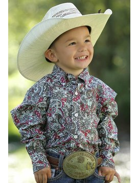 Cinch Toddler Boy's Cinch Button Down Shirt MTW7061158