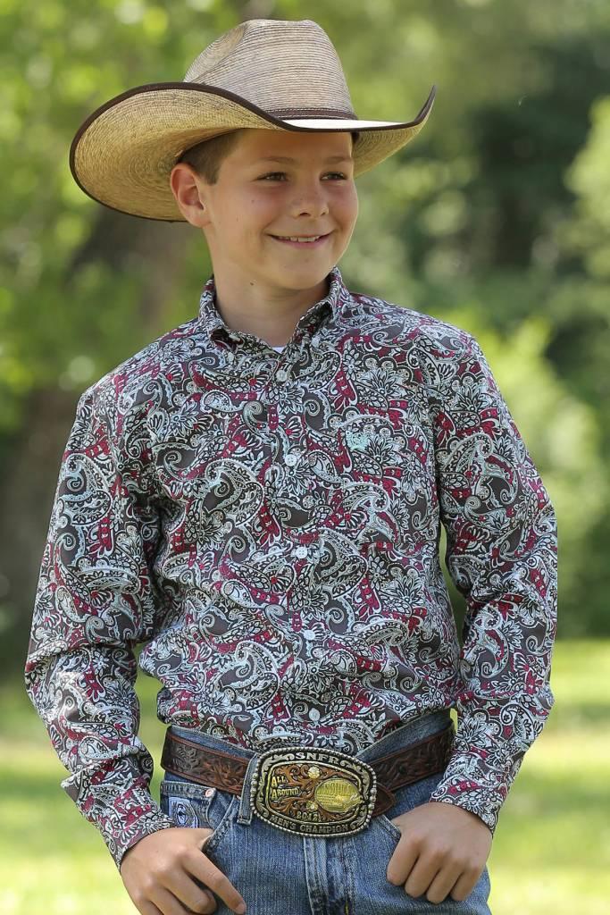 d0331837 Cinch Boy's Cinch Button Down Shirt MTW7060158   Corral Western Wear