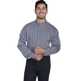 Scully Men's Grey Stripe Button Down Shirt C4