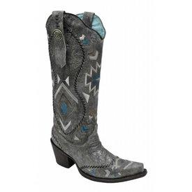 Corral Women's Silver Tribal Western Boot C3