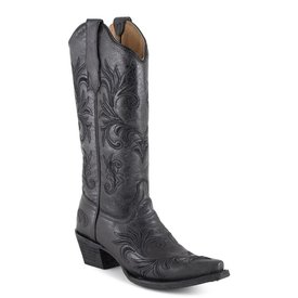 Circle G Women's Black Embroidered Boot C4 9.5M