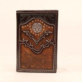Nocona Belt Co. Men's Nocona Tri-Fold Wallet N5465002