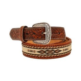 Ariat Men's Stitched Ribbon Belt Sz 42""