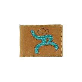 Hooey Men's Turquoise Roughy Bi-Fold Wallet