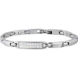 Sabona Lady Pave Silver Linked Bracelet