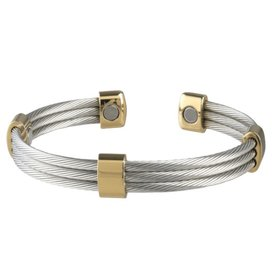 Sabona Trio Stainless Steel Cable Bracelet