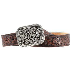 Ariat Women's Dark Brown Embossed Belt