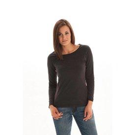 Cowgirl Tuff Black Studded Cowgirl Bronc Long Sleeve Medium