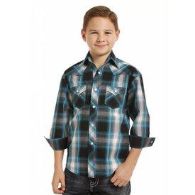 ROCK&ROLL COWBOY Boy's Rock & Roll Cowboy Snap Front Shirt B8S3141
