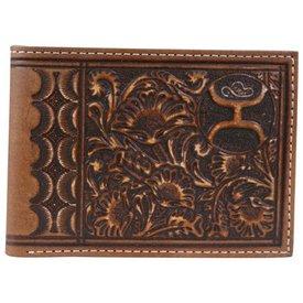 Hooey Men's Scalloped Floral Wallet